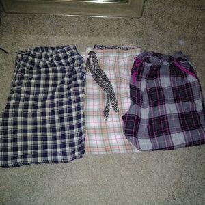 3 pairs of pj pants